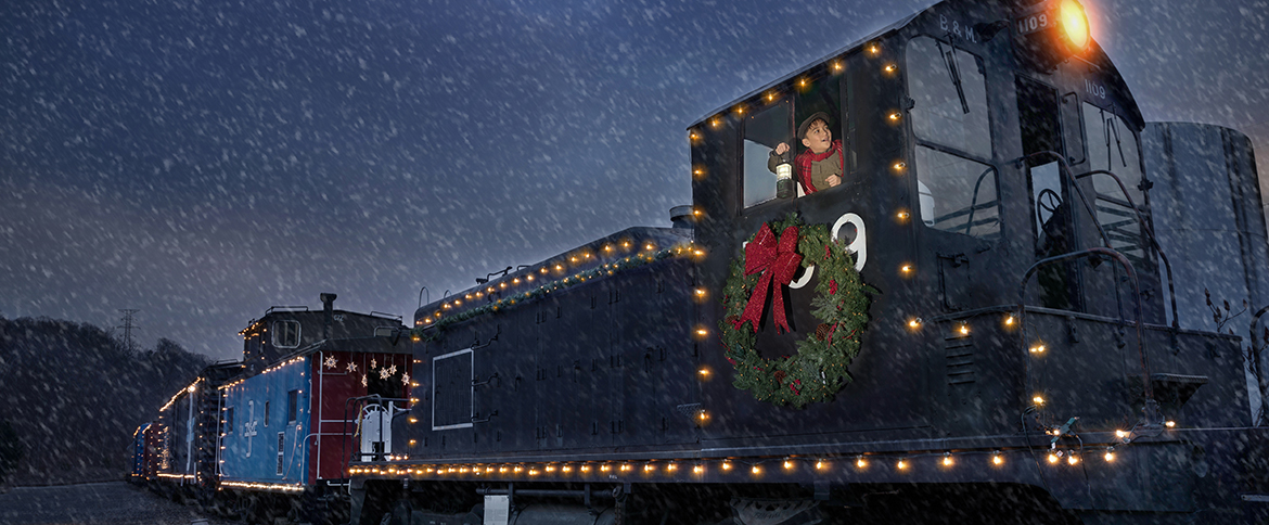 another fun filled experience is aboard the northern lights limited train rides with santa at the railroad museum of new england in thomaston - Animated Christmas Light Displays